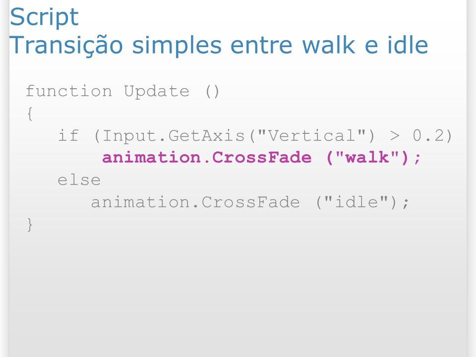 Script Transição simples entre walk e idle
