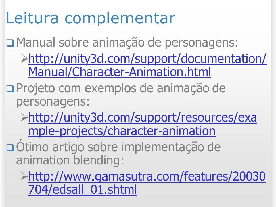 Leitura complementar Manual sobre animação de personagens: