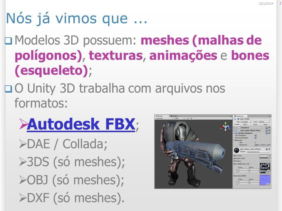 Autodesk FBX; Nós já vimos que ...