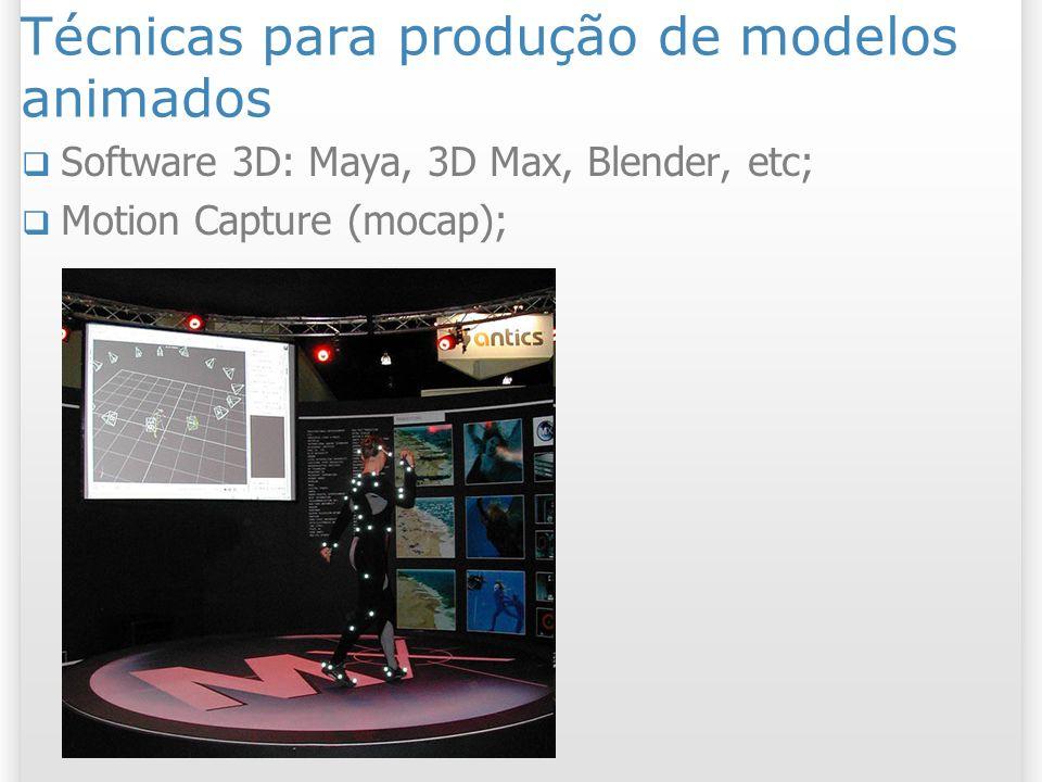 Técnicas para produção de modelos animados
