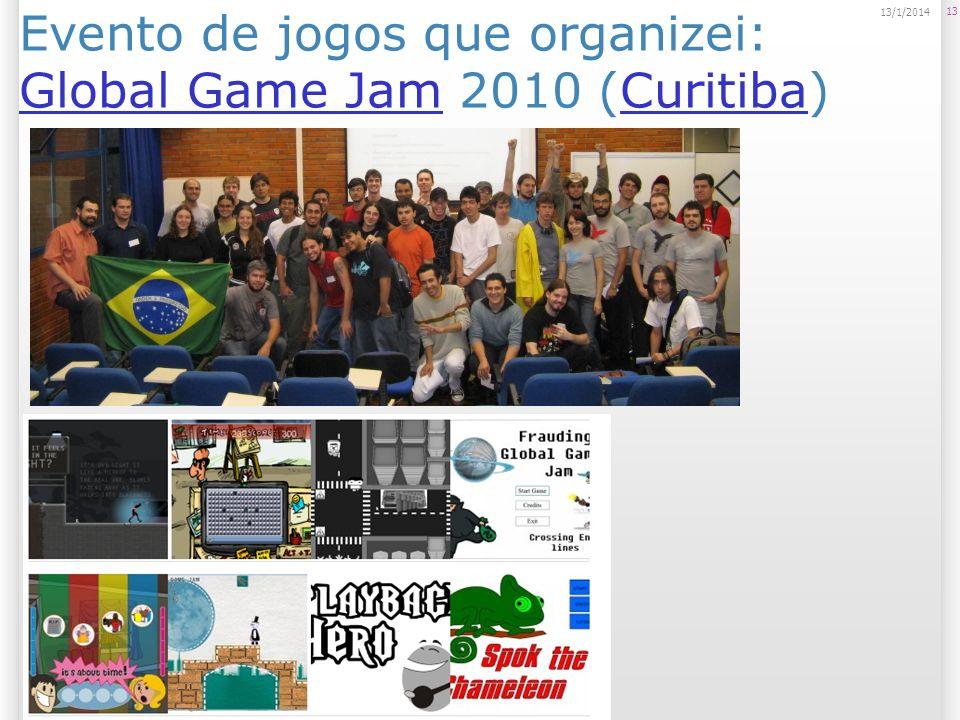 Evento de jogos que organizei: Global Game Jam 2010 (Curitiba)