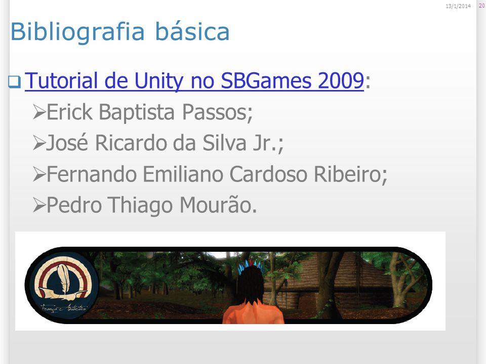 Bibliografia básica Tutorial de Unity no SBGames 2009: