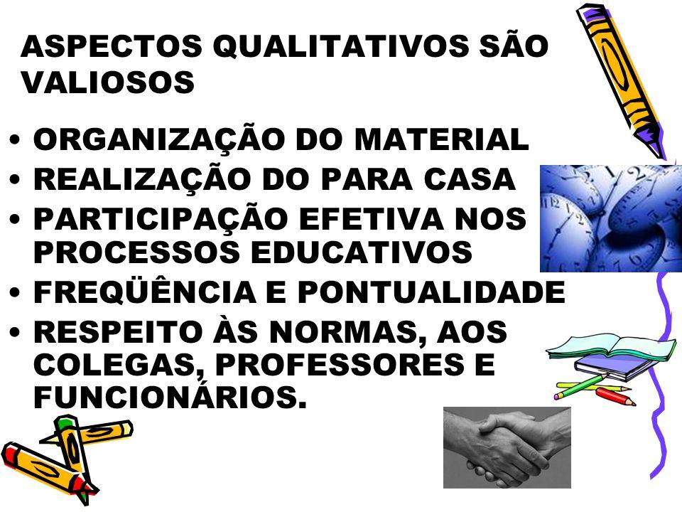ASPECTOS QUALITATIVOS SÃO VALIOSOS