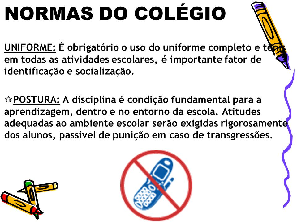 NORMAS DO COLÉGIO