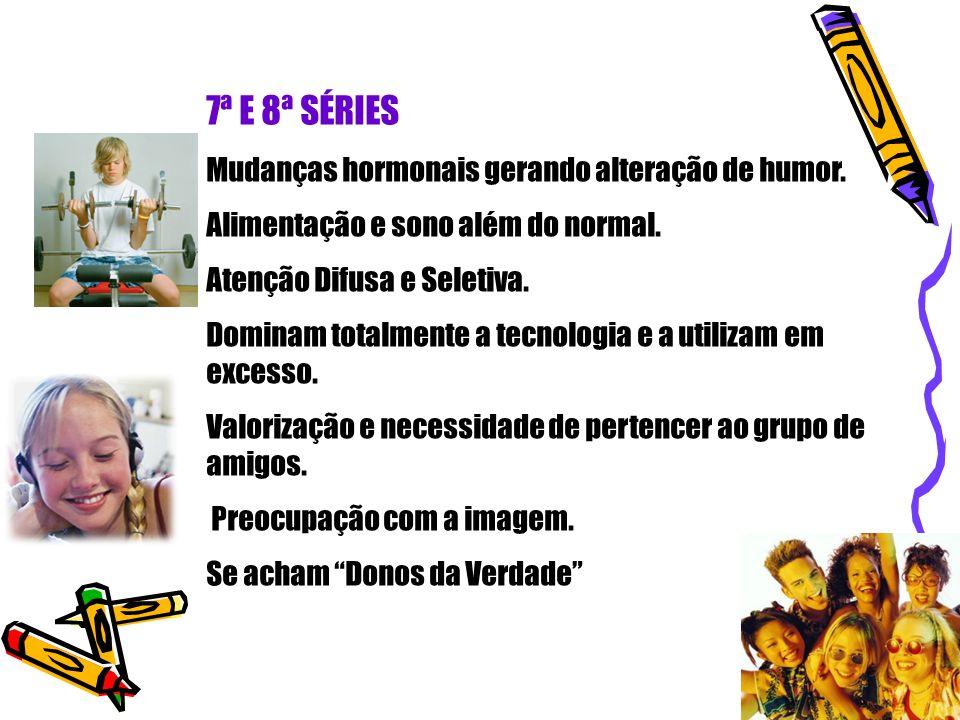 7ª E 8ª SÉRIES Mudanças hormonais gerando alteração de humor.