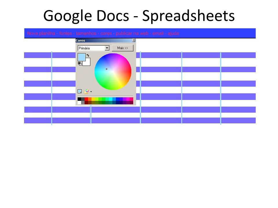 Google Docs - Spreadsheets