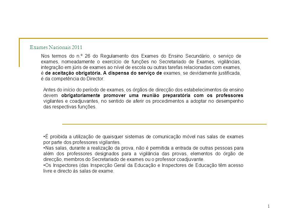 Exames Nacionais 2011