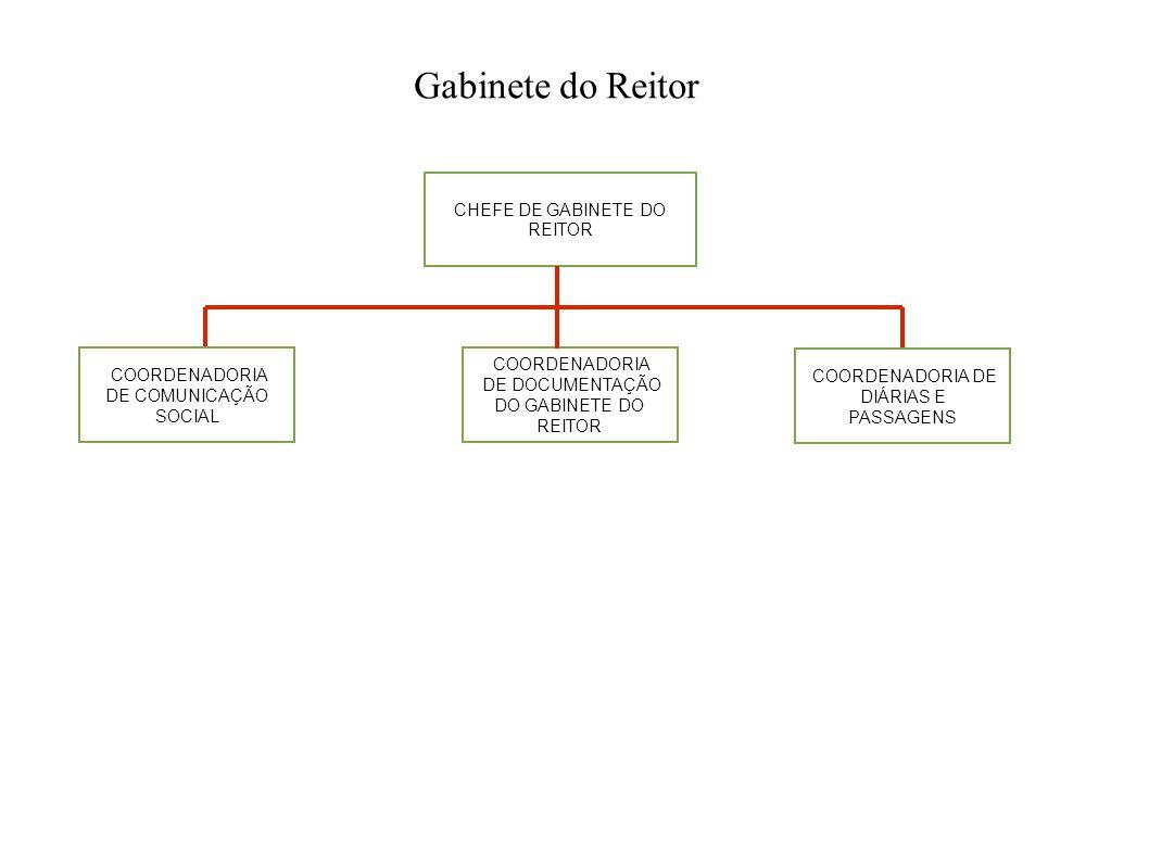 Gabinete do Reitor CHEFE DE GABINETE DO REITOR COORDENADORIA