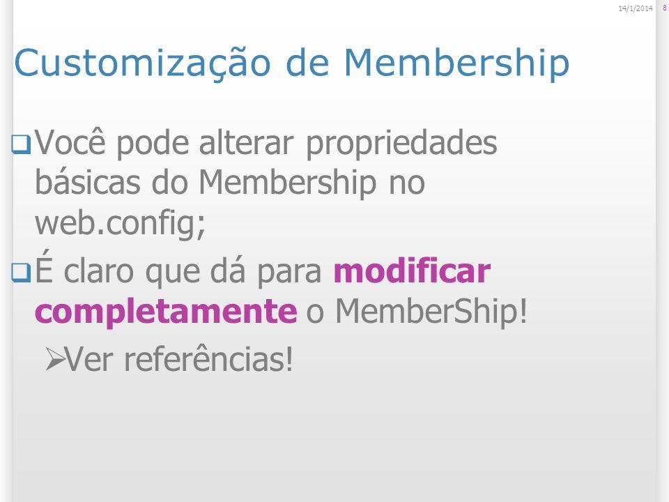 Customização de Membership