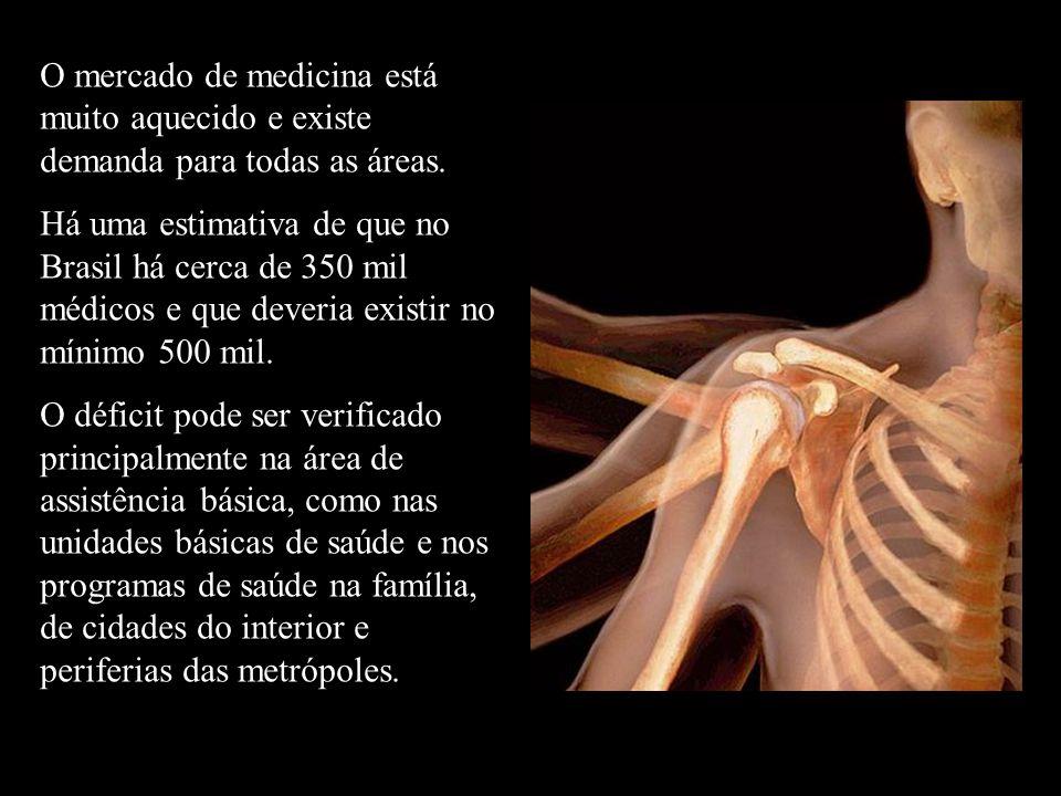 O mercado de medicina está muito aquecido e existe demanda para todas as áreas.