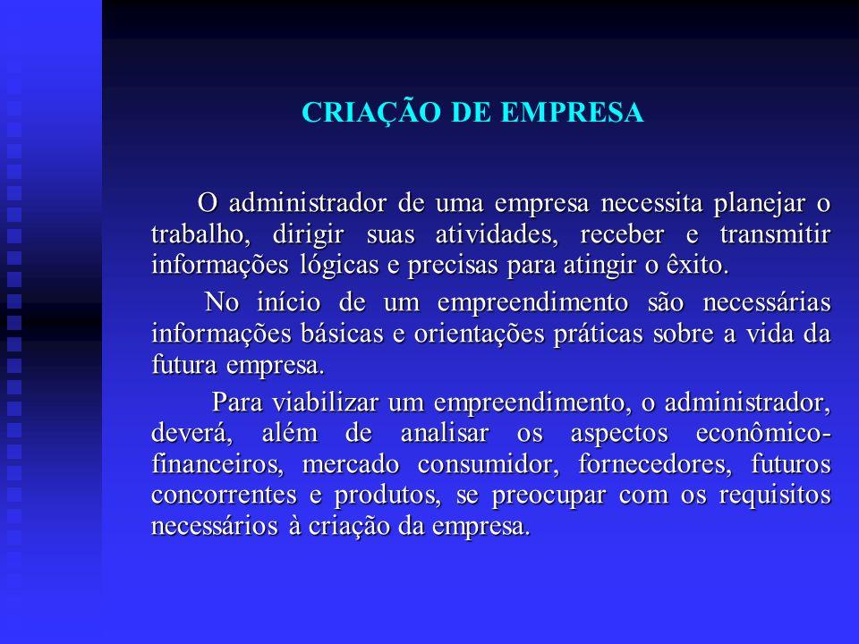 CRIAÇÃO DE EMPRESA