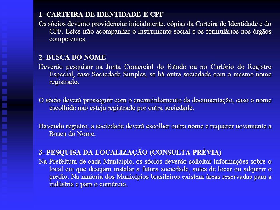 1- CARTEIRA DE IDENTIDADE E CPF
