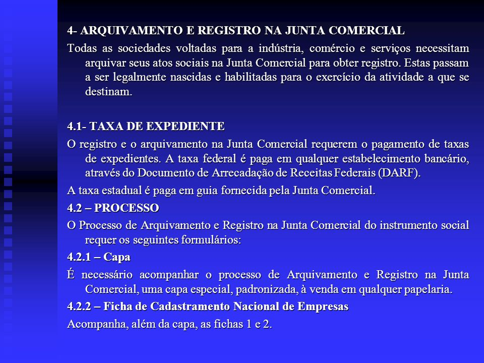 4- ARQUIVAMENTO E REGISTRO NA JUNTA COMERCIAL