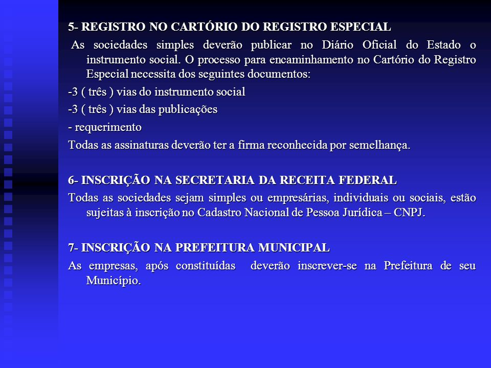 5- REGISTRO NO CARTÓRIO DO REGISTRO ESPECIAL