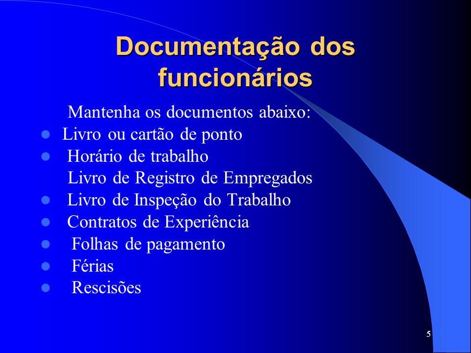 Documentação dos funcionários