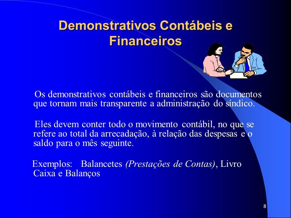 Demonstrativos Contábeis e Financeiros