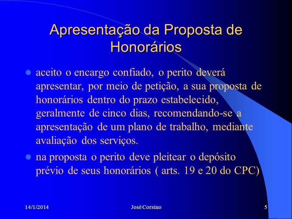 Apresentação da Proposta de Honorários