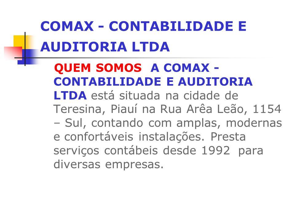 COMAX - CONTABILIDADE E AUDITORIA LTDA