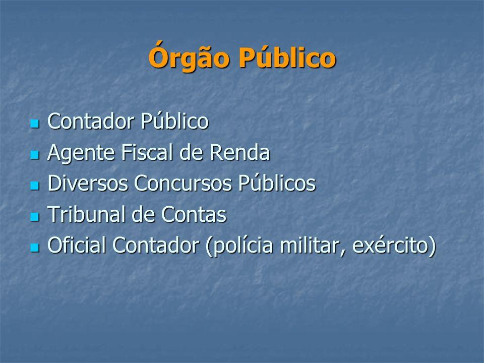 Órgão Público Contador Público Agente Fiscal de Renda