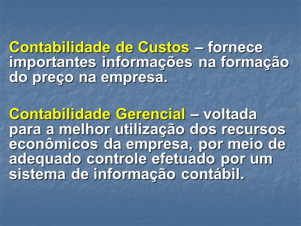 Contabilidade de Custos – fornece importantes informações na formação do preço na empresa.