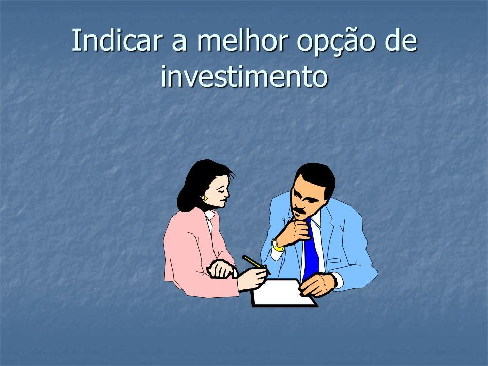 Indicar a melhor opção de investimento
