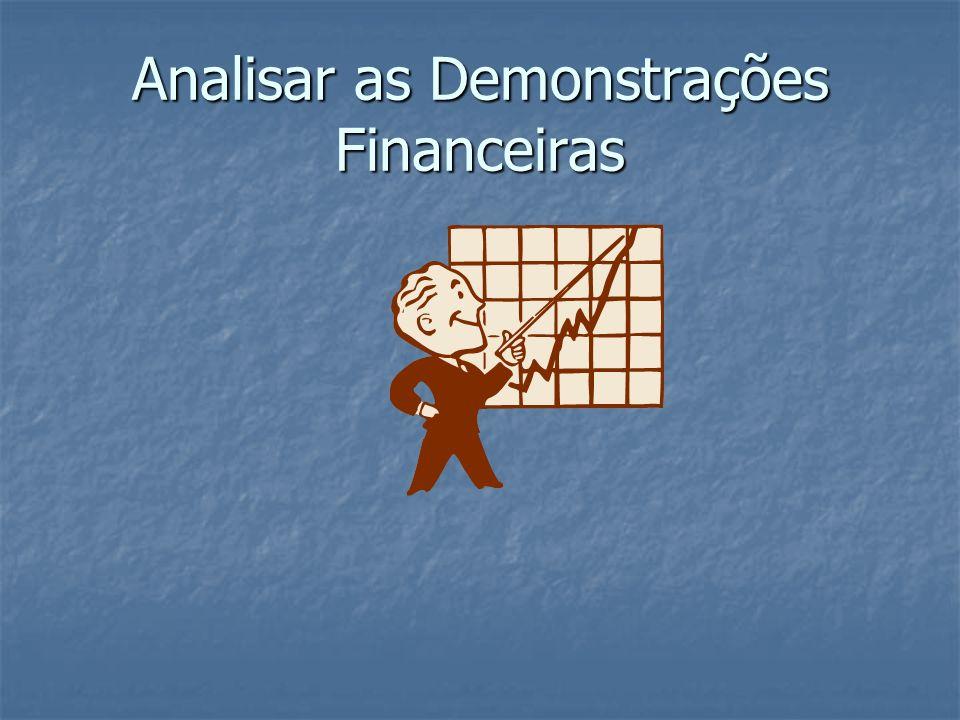 Analisar as Demonstrações Financeiras