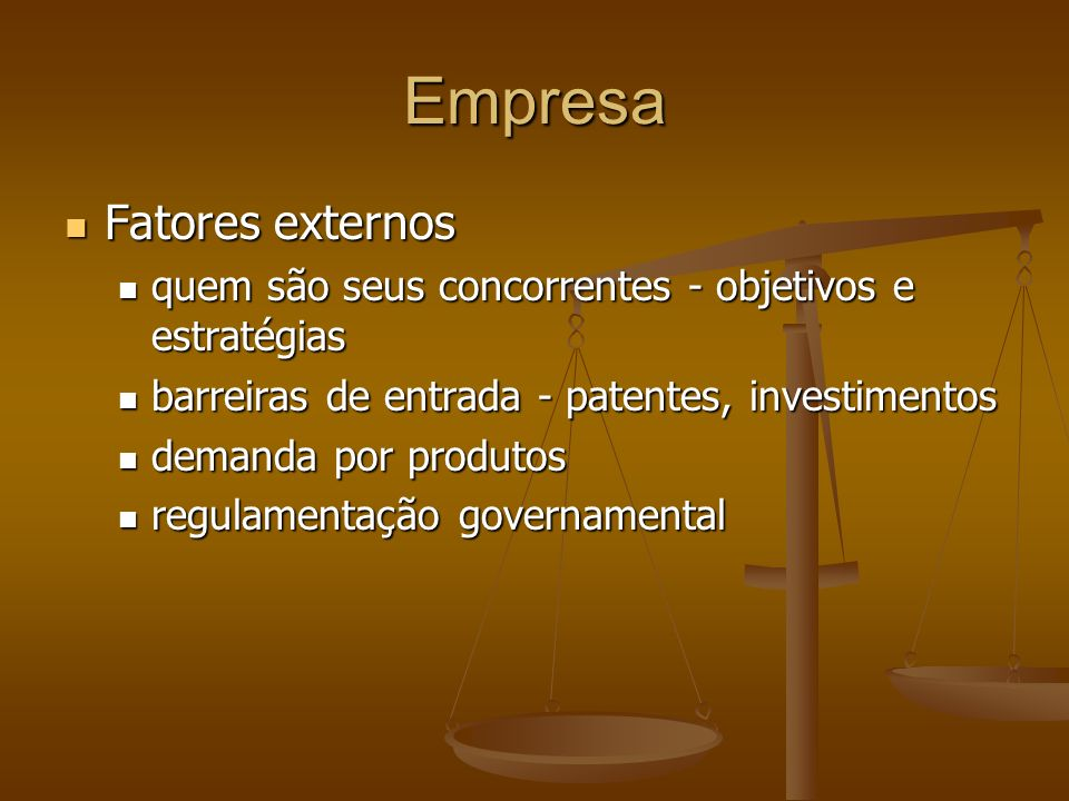 Empresa Fatores externos