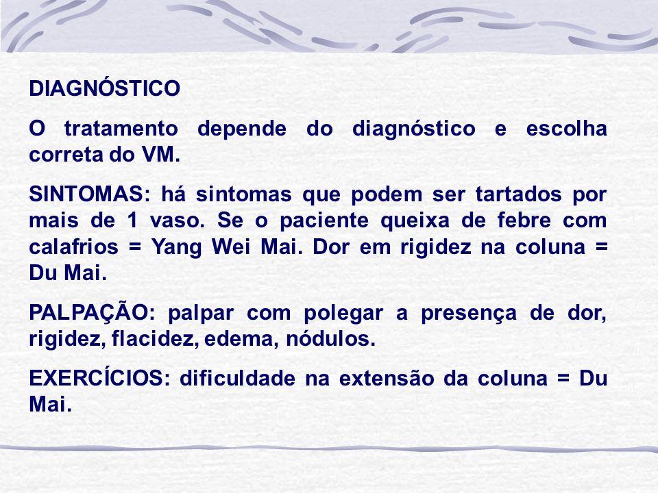 DIAGNÓSTICO O tratamento depende do diagnóstico e escolha correta do VM.