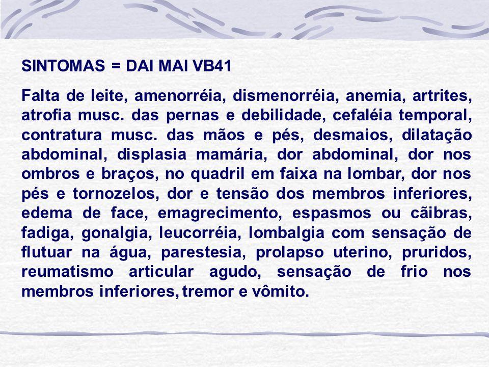 SINTOMAS = DAI MAI VB41