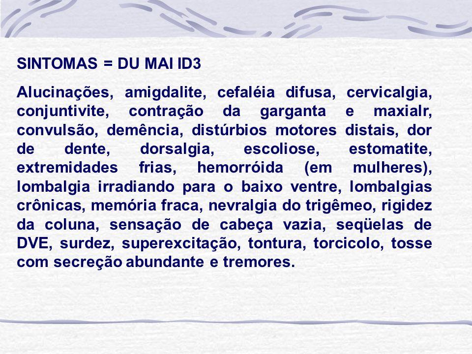 SINTOMAS = DU MAI ID3