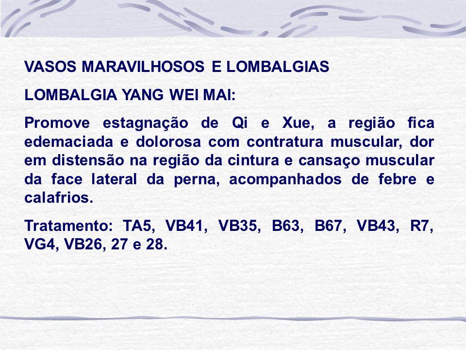 VASOS MARAVILHOSOS E LOMBALGIAS