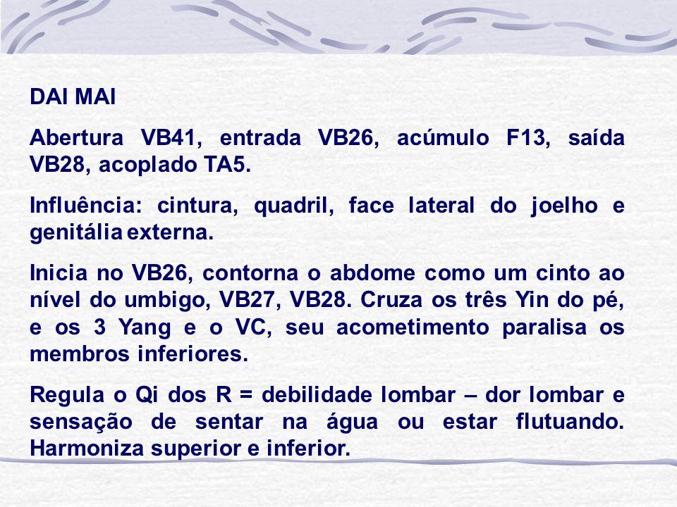 DAI MAI Abertura VB41, entrada VB26, acúmulo F13, saída VB28, acoplado TA5.