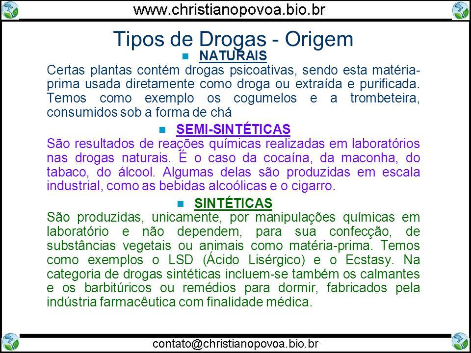 Tipos de Drogas - Origem