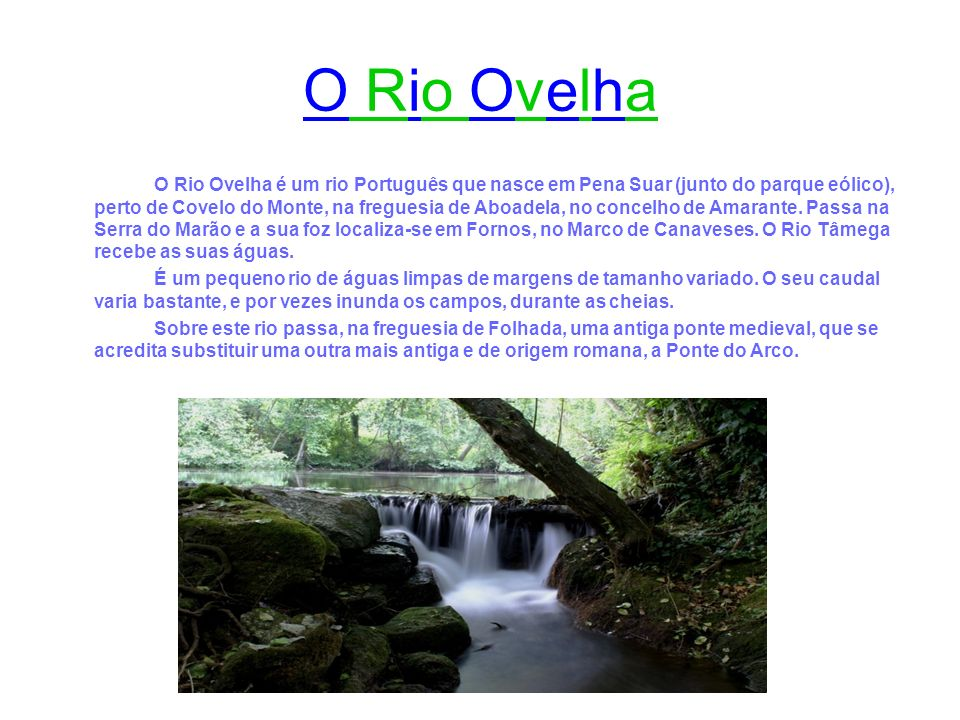 O Rio Ovelha