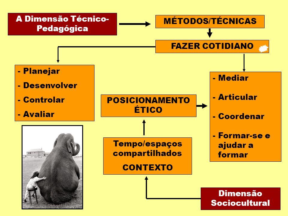 A Dimensão Técnico-Pedagógica MÉTODOS/TÉCNICAS