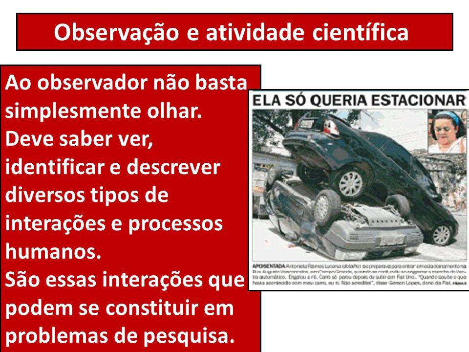 Observação e atividade científica