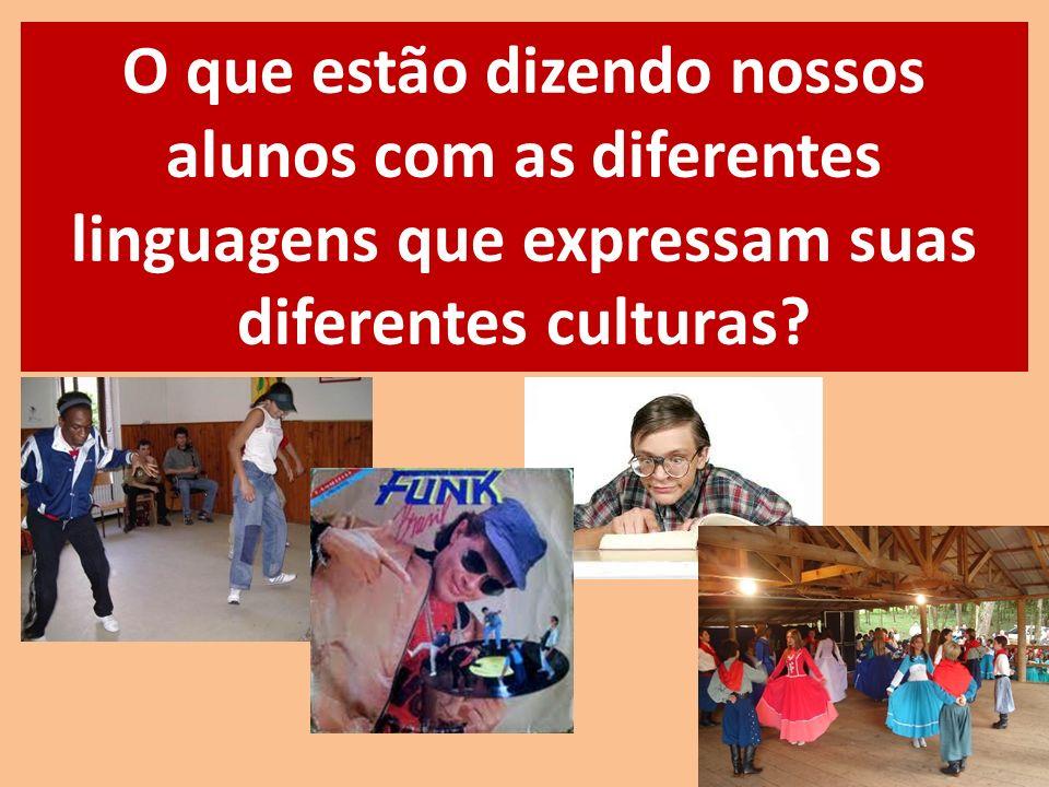 O que estão dizendo nossos alunos com as diferentes linguagens que expressam suas diferentes culturas