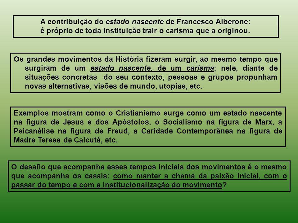 A contribuição do estado nascente de Francesco Alberone: