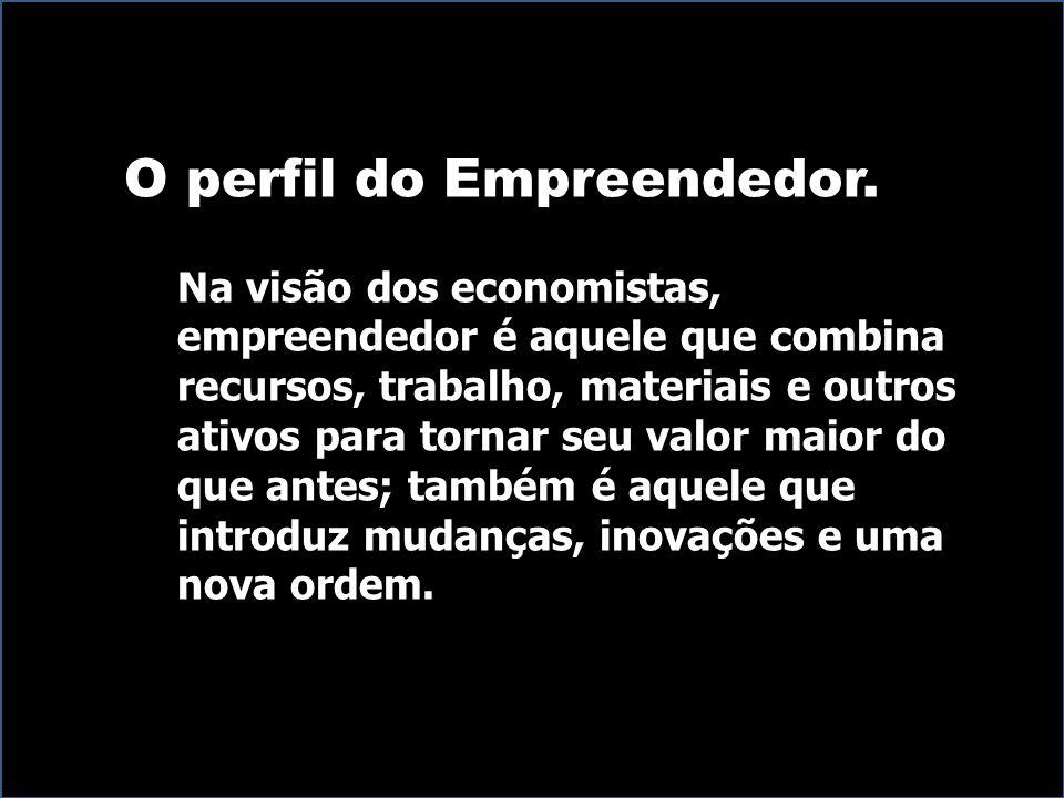 O perfil do Empreendedor.