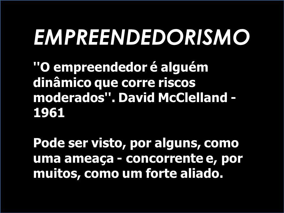 EMPREENDEDORISMO O empreendedor é alguém dinâmico que corre riscos moderados . David McClelland - 1961.