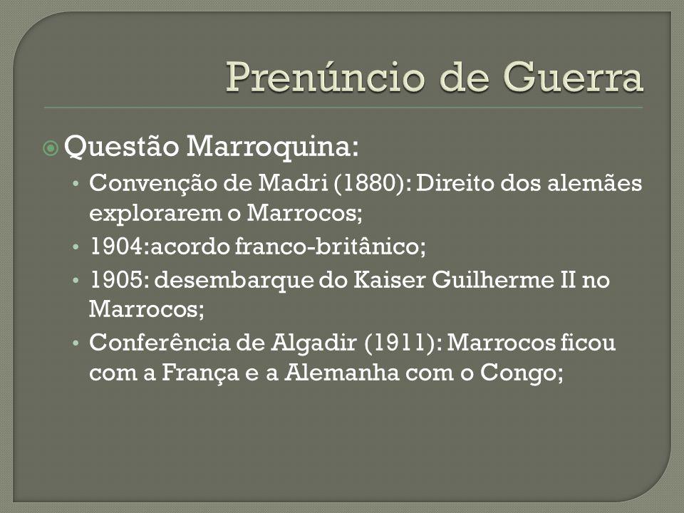 Prenúncio de Guerra Questão Marroquina:
