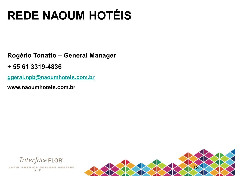 REDE NAOUM HOTÉIS Rogério Tonatto – General Manager + 55 61 3319-4836