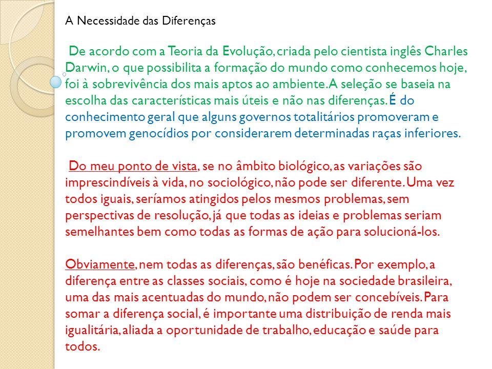 A Necessidade das Diferenças