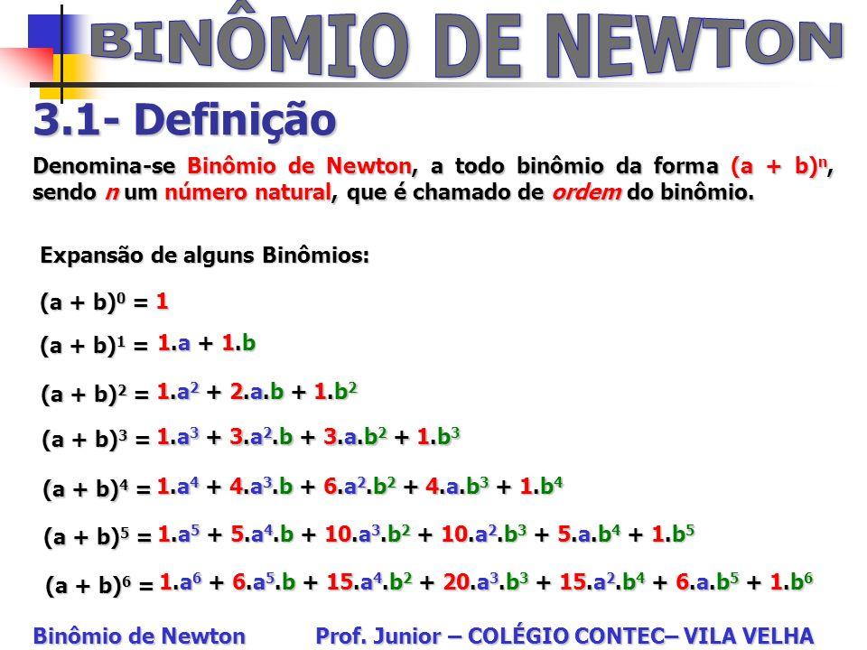 BINÔMIO DE NEWTON 3.1- Definição