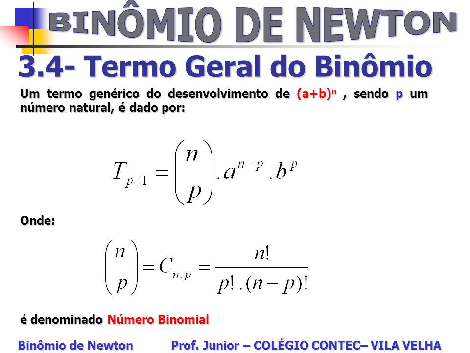 3.4- Termo Geral do Binômio