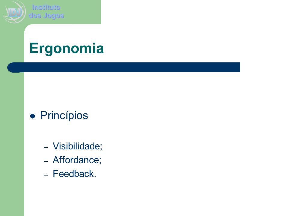 Ergonomia Princípios Visibilidade; Affordance; Feedback.