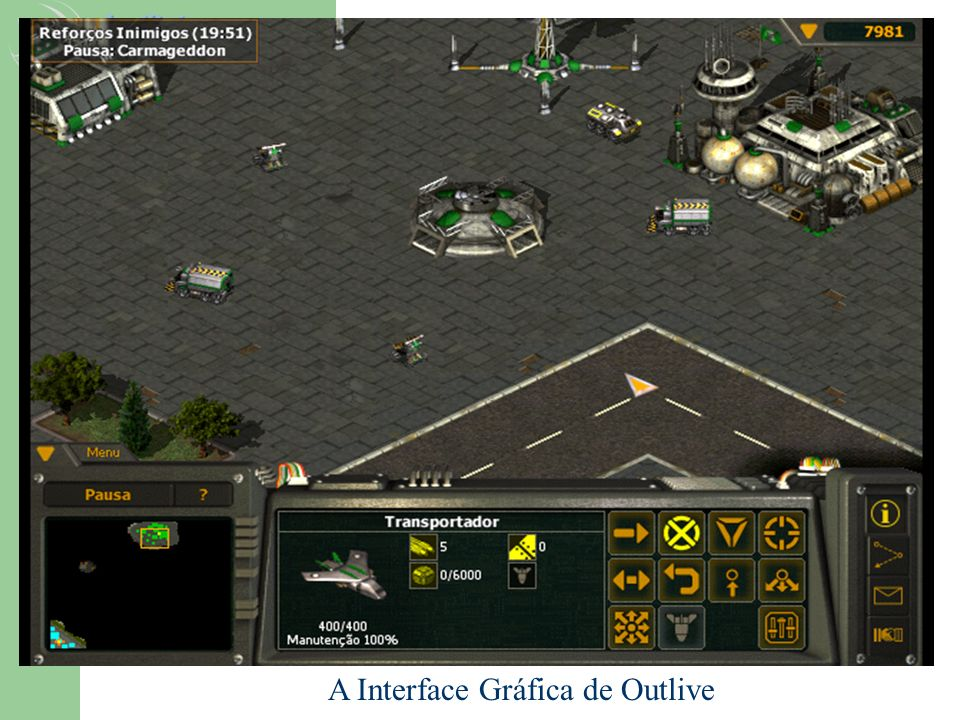 A Interface Gráfica de Outlive