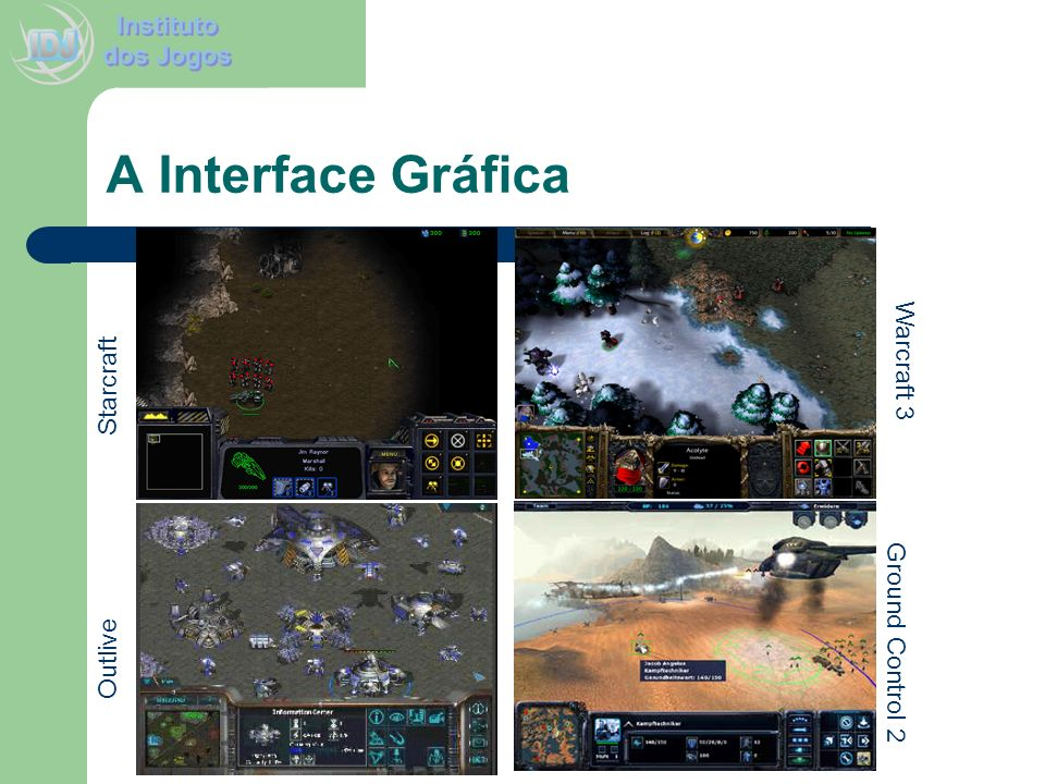 A Interface Gráfica Warcraft 3 Starcraft Ground Control 2 Outlive