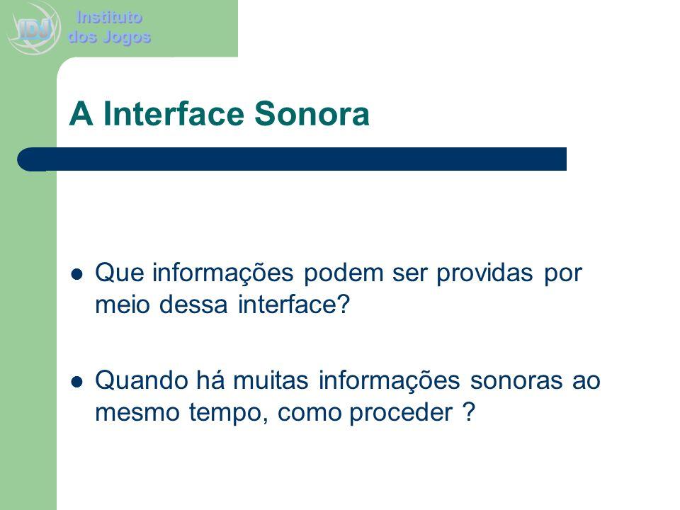 A Interface SonoraQue informações podem ser providas por meio dessa interface.