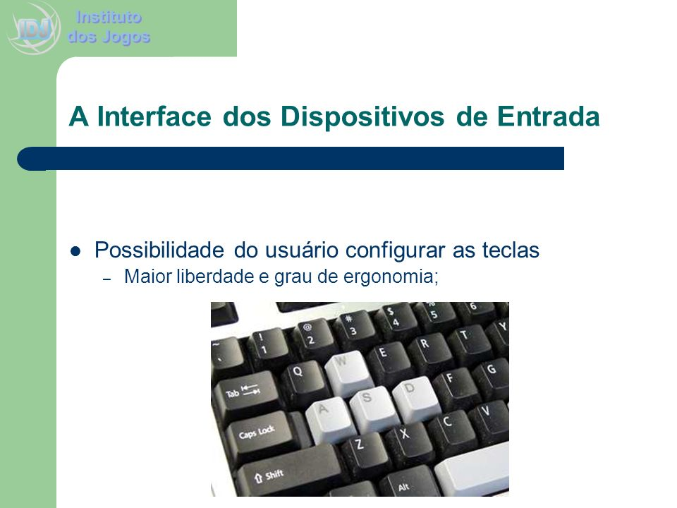A Interface dos Dispositivos de Entrada